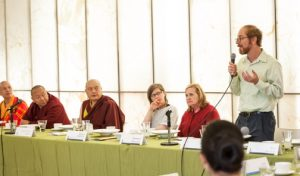 Justin Stein at discussion with HH the Karmapa