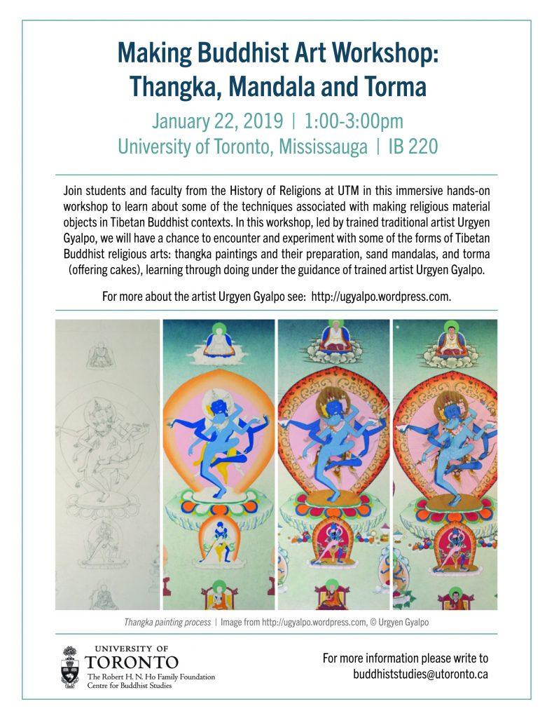 Buddhist Art Workshop poster 1