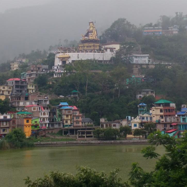 Guru Rinpoche looking over Tso Pema